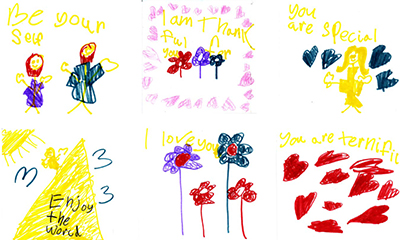 Joy Notes drawn by Taryn, 6 years old